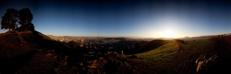 up on bernal hill early in the morning with the  16-35 lens and a lee drop in  grad ND