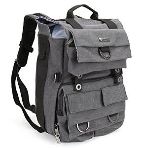 Evecase Canvas DSLR Travel Camera Backpack
