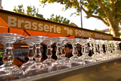 Europe, France, Provence, Avignon, restaurant on Place De La Horloge