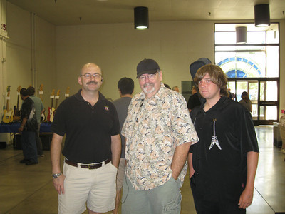 Maxwell, Dennis and Frank at a Guitar Show