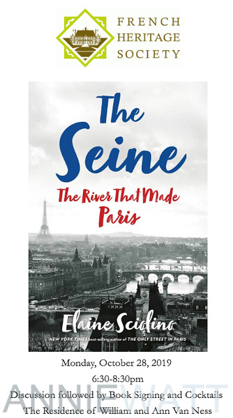 """Oct 28 - French Heritage Society """"The Seine"""" Book Party"""