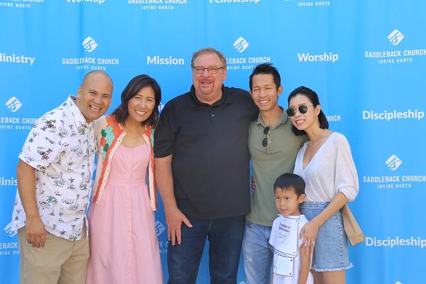 Sunday 08/26/18 Pastor Rick Visit - Photo Booth