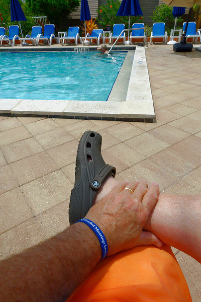 Crocs By The Pool
