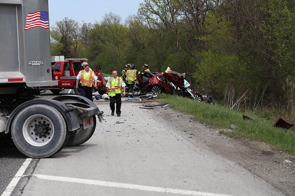 Bensenville FPD crash with extrication Rte 83 and Frontage, 4-25-17