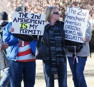 Pro Gun rallies at the State Capitol in Denver, 1/9/13,1/19/13, 2/23/13