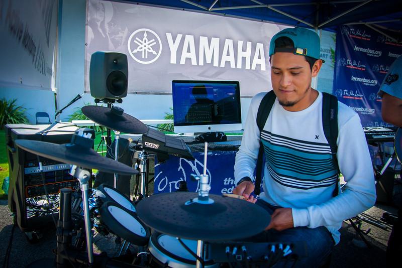 2014_04_24, Pomona, CA, Cal Poly Pomona, Tents, Yamaha
