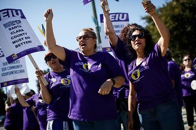 Photos: Santa Clara County union employee strike, two clinics and services shut down