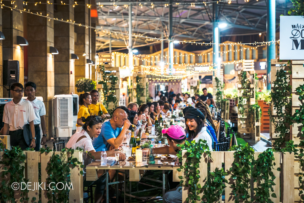 The Great Food Festival RWS - Celebrity Chef Area outdoor seating