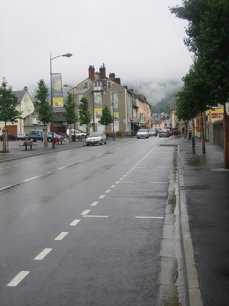 The misty moutain town of Bagneres de Biggorre