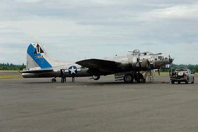 """Commemorative Air Force's Boeing B-17G Flying Fortress """"Sentimental Journey"""" at the Tacoma Narrows Airport - June 2012"""