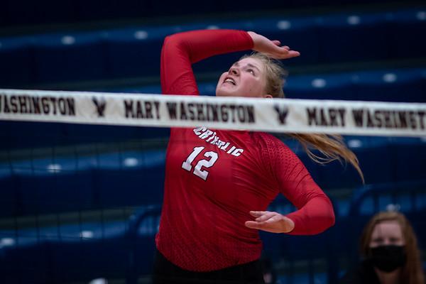 Catholic vs Mary Washington Volleyball 9.18.21