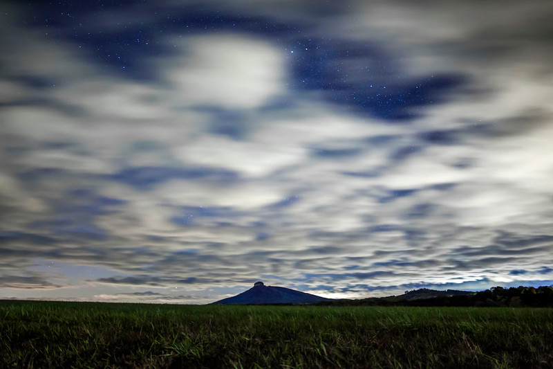 Dreamy Clouds Above Pilot Mountain