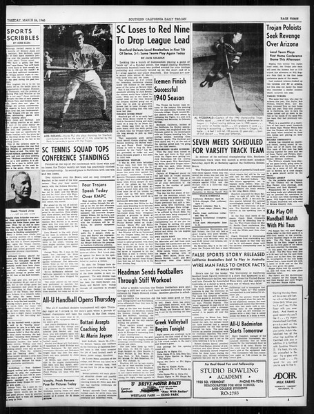 Daily Trojan, Vol. 31, No. 110, March 26, 1940