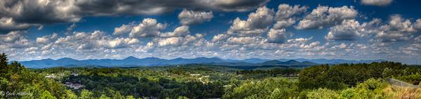 Blue Ridge Mountains behind Dahlonega, Ga.