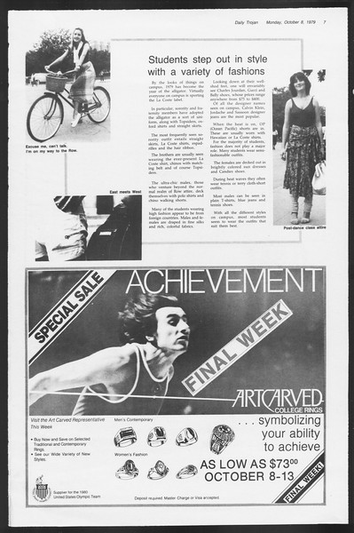 Daily Trojan, Vol. 87, No. 16, October 08, 1979