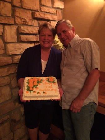 Chris and Dan's 40th Wedding Anniversary