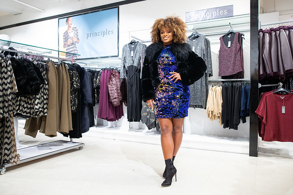 4/12/19 - Fleur East turns on Debenhams Christmas Lights in Manchester