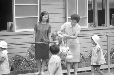 Two teachers at a local Japanese grade school where we lived in Tamagawa, Japan 1965