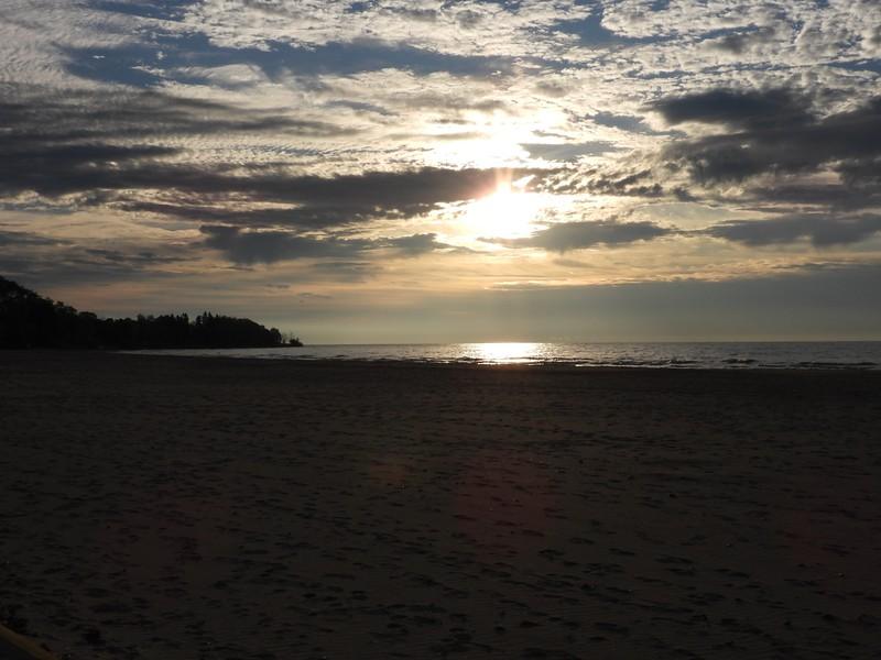 Morning sun at Cobourg Beach