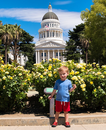 Isaiah at California State Capitol in Sacramento, July 9, 2016