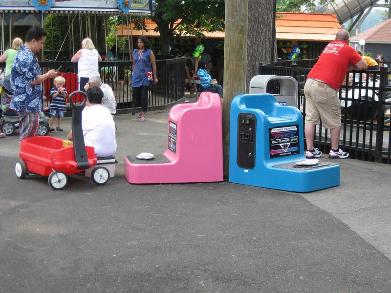 Footsie Wootsie coin-operated foot massagers were installed in kiddieland.