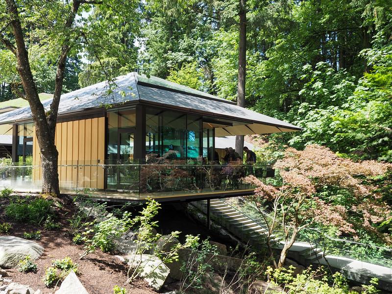 Portland Japanese Garden tea house