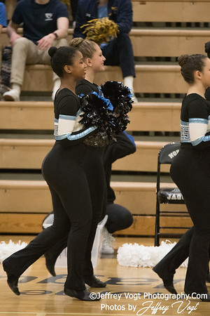 1-20-2018 Walt Whitman HS at Northwest HS Poms Invitational Division 2, Photos by Jeffrey Vogt Photography