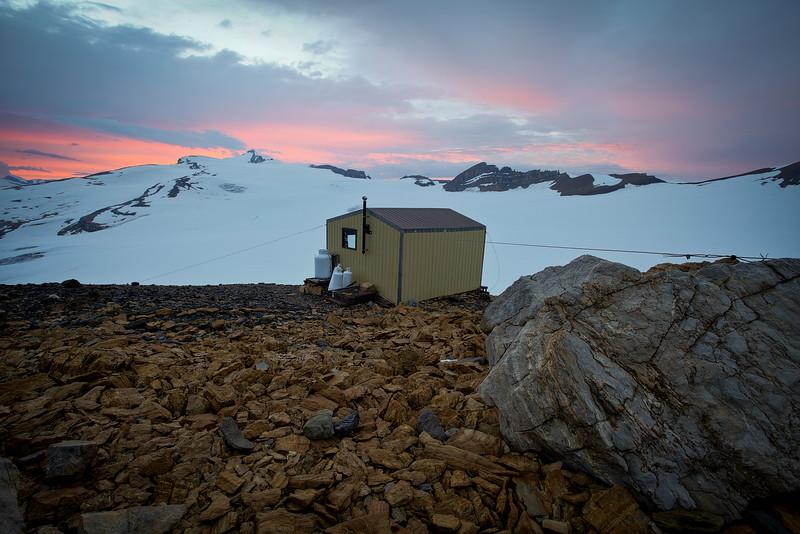 Scott Duncan Hut, Waputik Icefield, AB/BC Border.