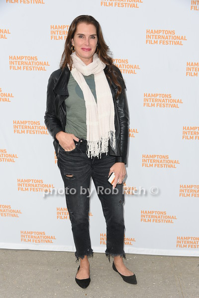"""Brooke Shields  attends the screening of """"The Capote Tapes"""" at the Hampton International Film Festival at the UA Cinema in Southampton on October 12, 2019. photo by Rob Rich/SocietyAllure.com"""