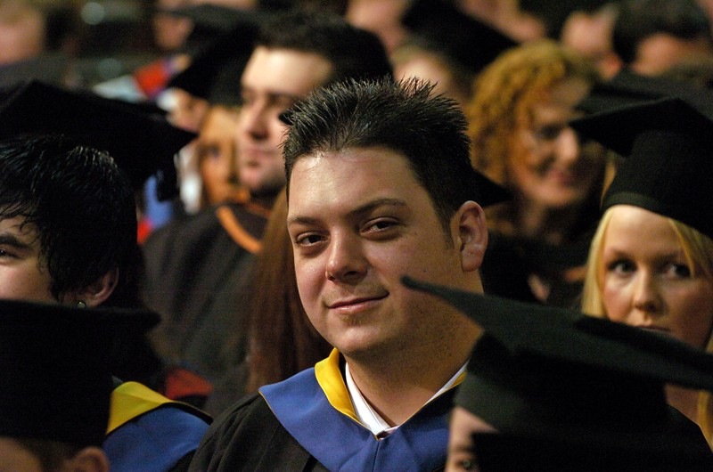 Provision 251006 A graduate pictured at WIT graduation ceremony yesterday (Tuesday).  PIC Bernie Keating/Provision