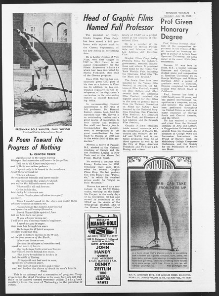 Summer Trojan, Vol. 17, No. 10, July 26, 1966
