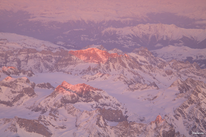 Over the Alps en route from ZRH to Malta on Airbus A320-200 