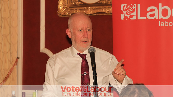 31 JAN 2019 - Andy McDonald MP, Labour's Shadow Minister for Transport - Harwich Branch Labour Party Fundraising Dinner at the Tower Hotel, Dovercourt.