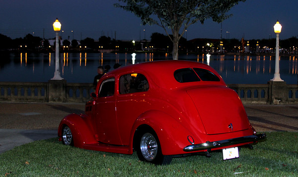 Lake Mirror Classic Hot Rods--evening