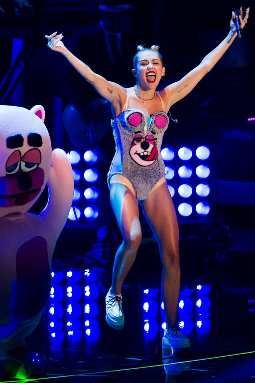 . Miley Cyrus performs at the MTV Video Music Awards on Sunday, Aug. 25, 2013, at the Barclays Center in the Brooklyn borough of New York. (Photo by Charles Sykes/Invision/AP)
