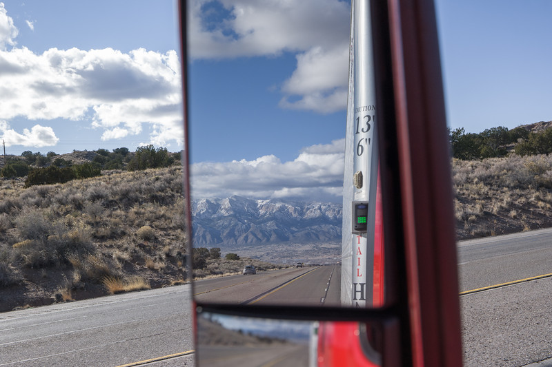 Sandia Crest In My Mirror