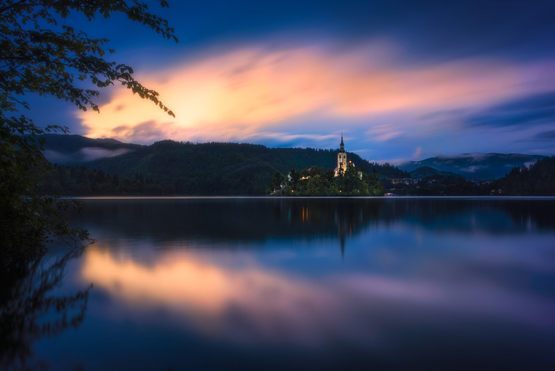 _DSC3021-LAKE BLED-FG Lake reflection MG Church on Island BG Sky and mountains-COLOR.jpg