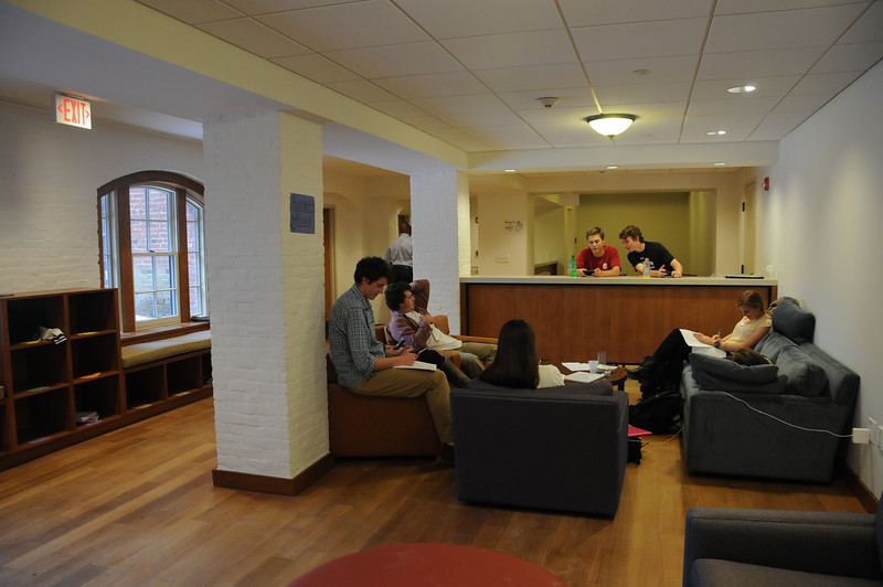The Burnett House facility is a lounge for day students and their guests...
