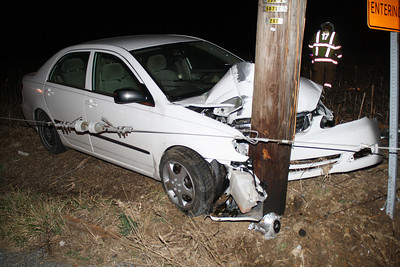 Car into Pole, Driver Missing, SR309 Closed, Lehigh County (3-14-2012)