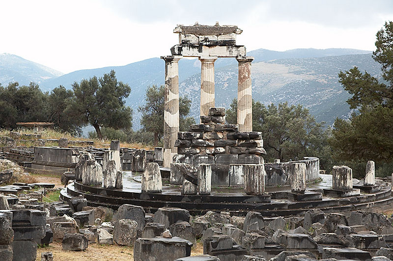 The Sanctuary of Athena at Delphi.