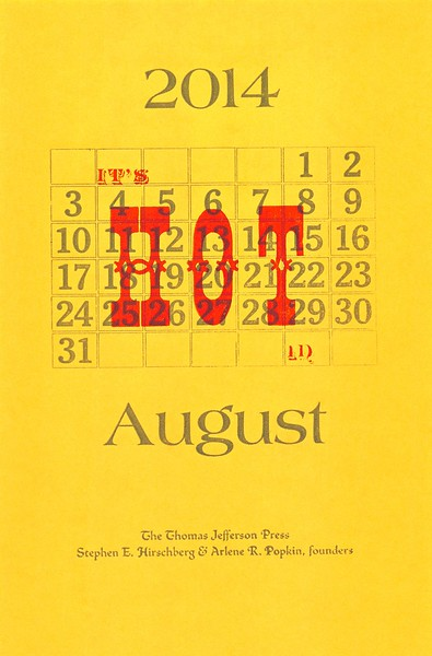 August, 2014, Thomas Jefferson Press