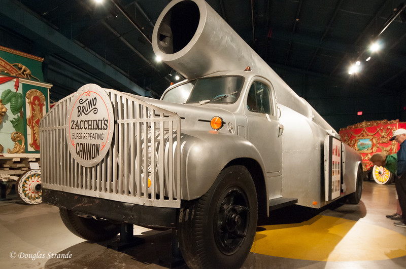 Human cannonball truck at the Ringling Museum