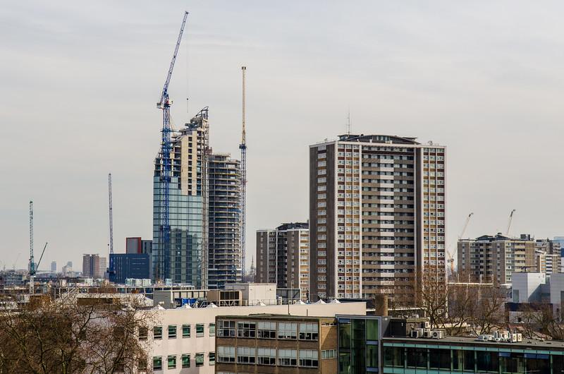 New build skyscrapers in Islington