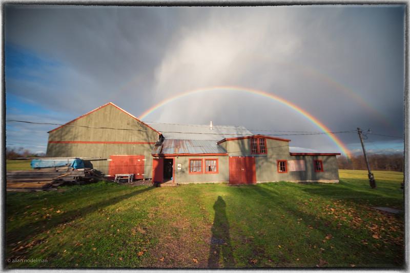 Rainbow Over Mary's Studio