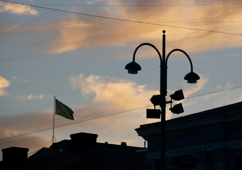 Helsinki - sunset over City Hall