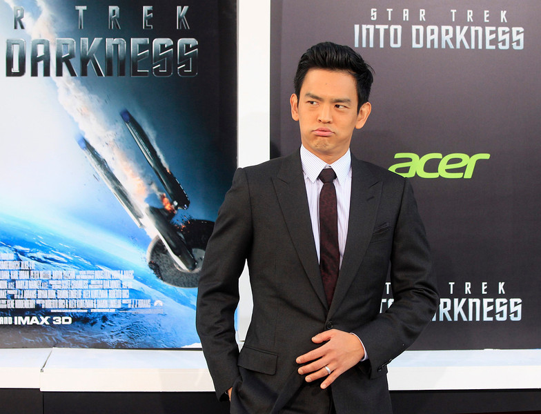 """. Actor John Cho, cast member of the new film \""""Star Trek Into Darkness\"""", arrives at the film\'s premiere in Hollywood May 14, 2013.  REUTERS/Fred Prouser"""