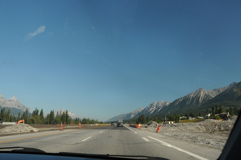 Passing through Canmore Alberta, one of the first towns ravaged by the flood waters that recked havoc throughout south-western Alberta.