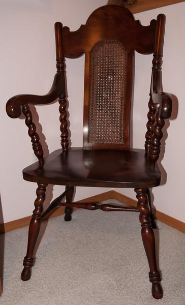 Cherry Wicker Chair