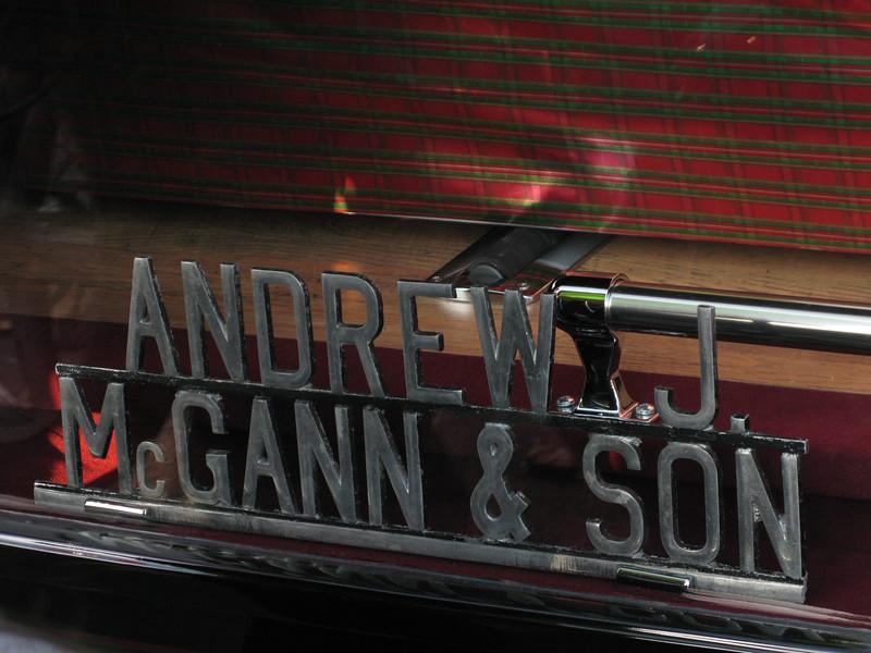 Andrew J. McGann & Son Hearse