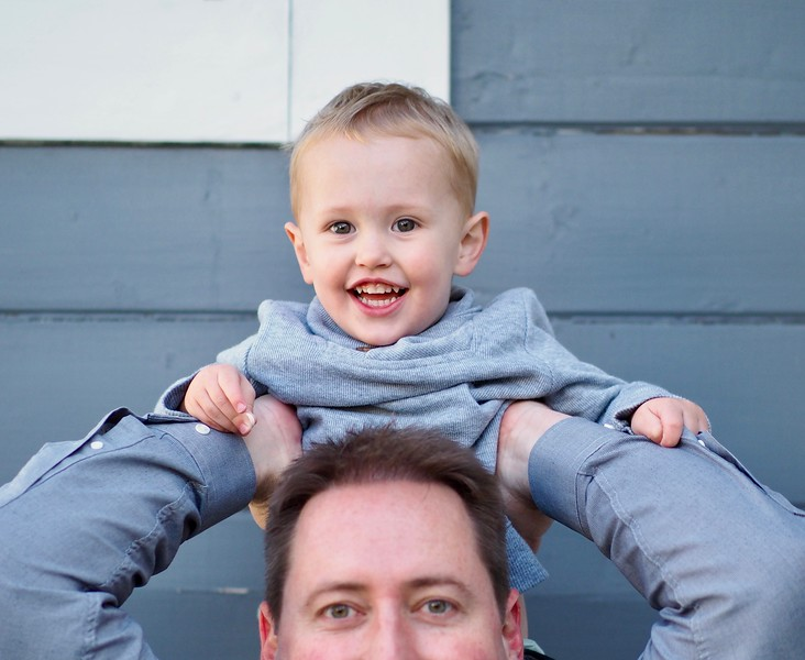New to sitting on Dad's shoulders, I think it's another win.